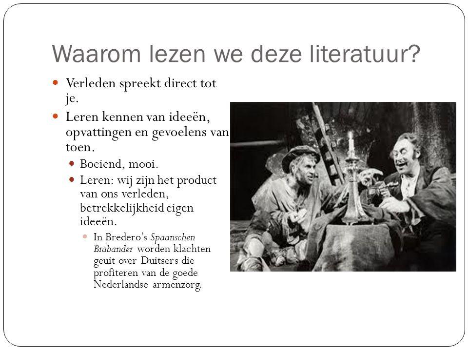 Literatuurgeschiedenis 4 vwo: middeleeuwen Laagland hoofdstuk 12 in informatieboek, Module 3 in werkboek.