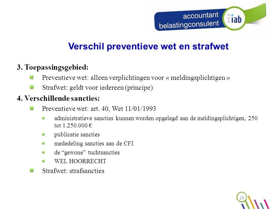 Verschil preventieve wet en strafwet 3.