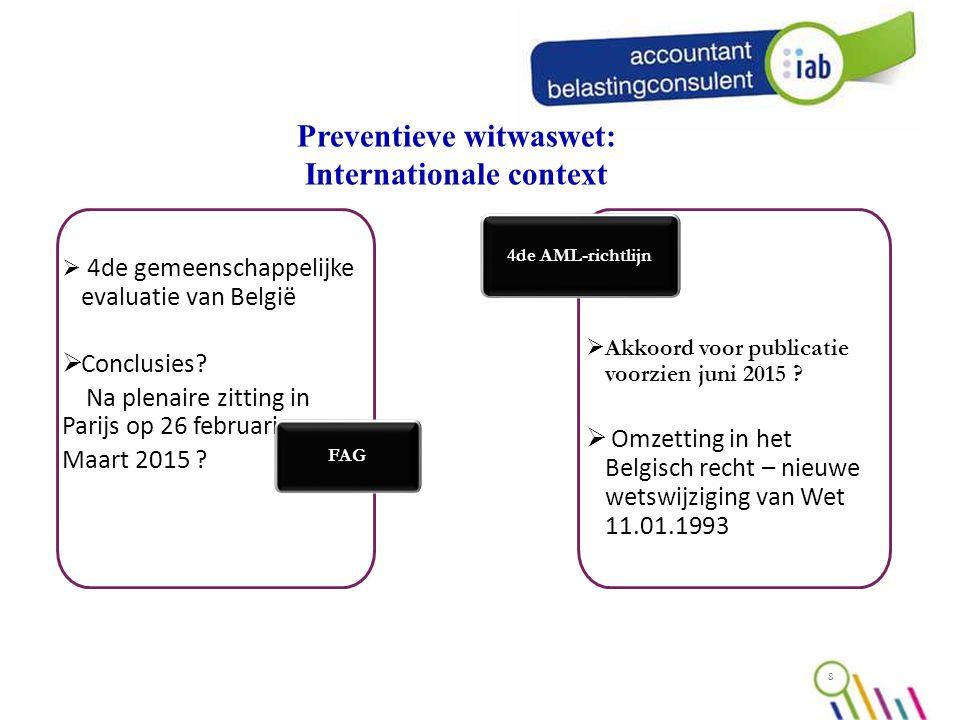  4de gemeenschappelijke evaluatie van België  Conclusies.
