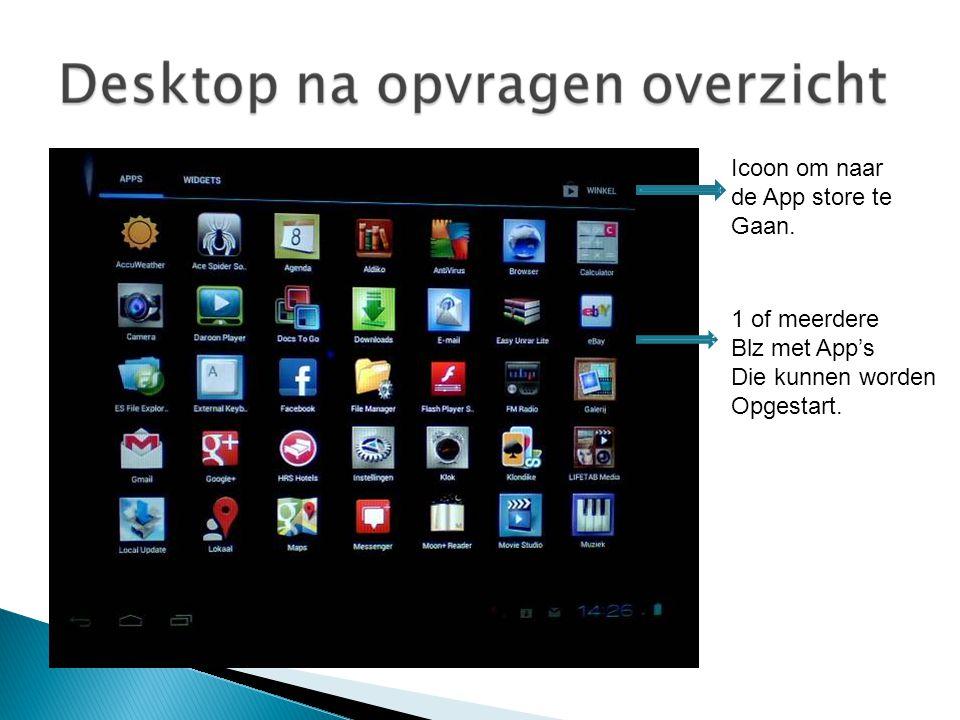 Icoon om naar de App store te Gaan. 1 of meerdere Blz met App's Die kunnen worden Opgestart.