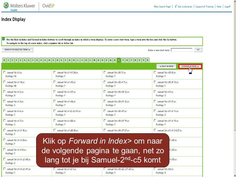 Klik op Forward in Index> om naar de volgende pagina te gaan, net zo lang tot je bij Samuel-2 nd -c5 komt