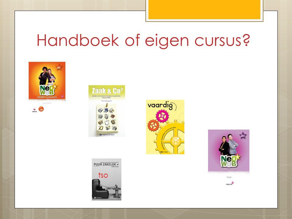Handboek of eigen cursus? tso