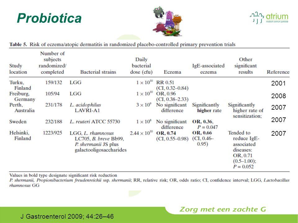Probiotica 2001 2008 2007 J Gastroenterol 2009; 44:26–46