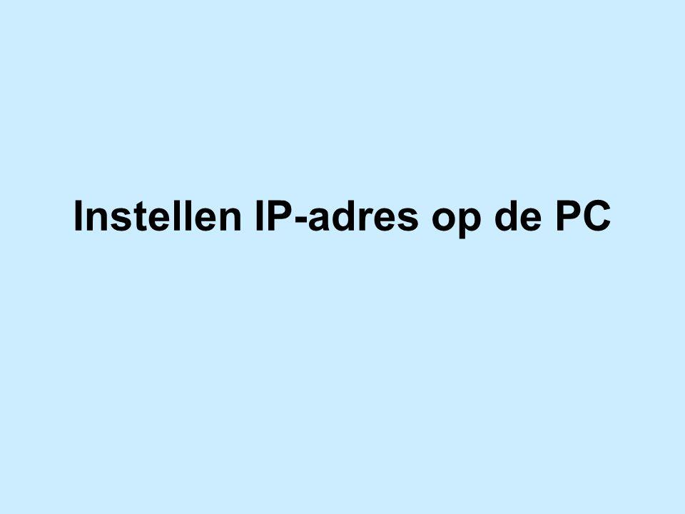 Instellen IP-adres op de PC