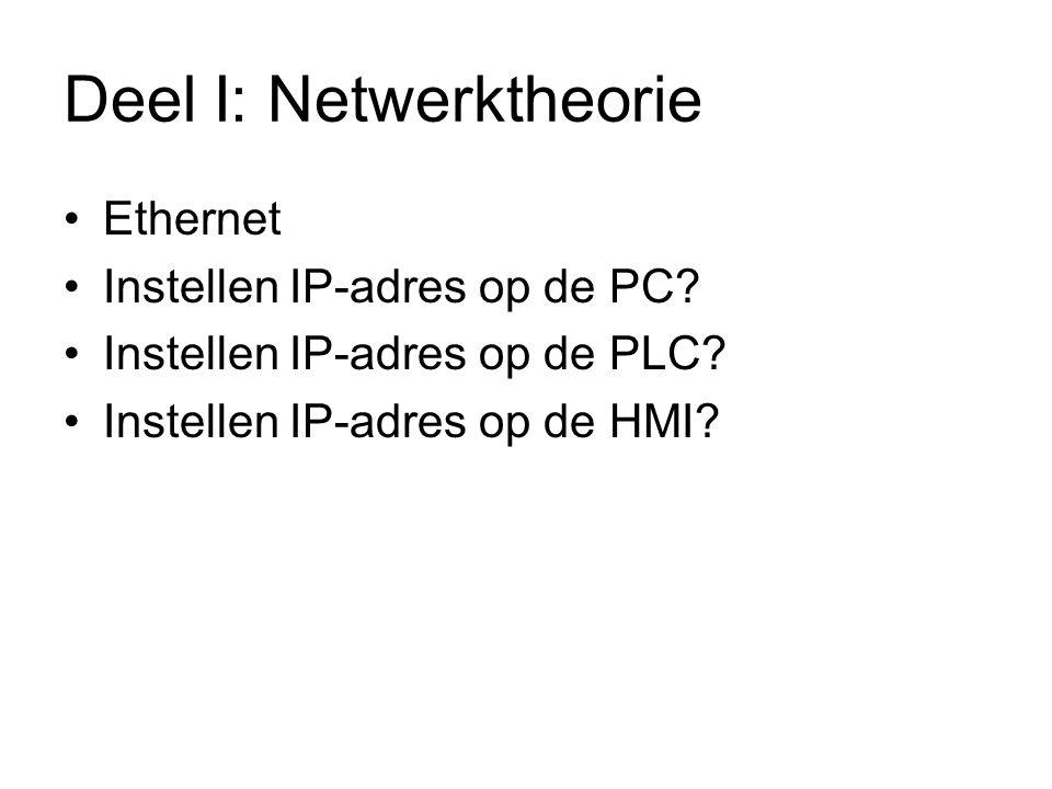 Controle ip-adressen Men kan nu een IP-adres zelf toe- kennen aan de PC.