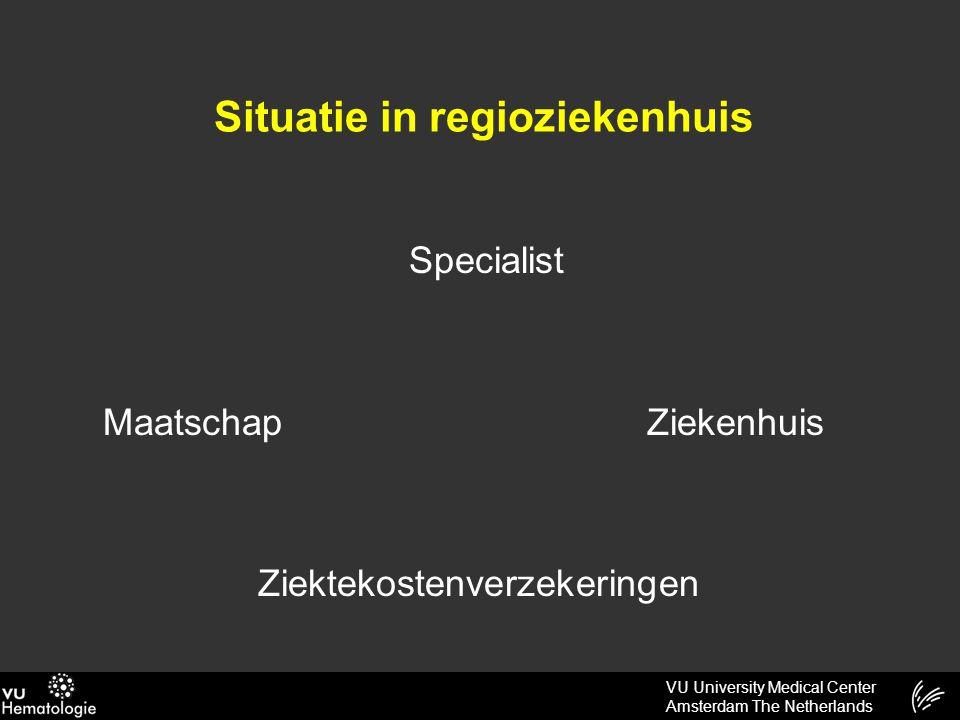 VU University Medical Center Amsterdam The Netherlands Situatie in regioziekenhuis Specialist Maatschap Ziekenhuis Ziektekostenverzekeringen