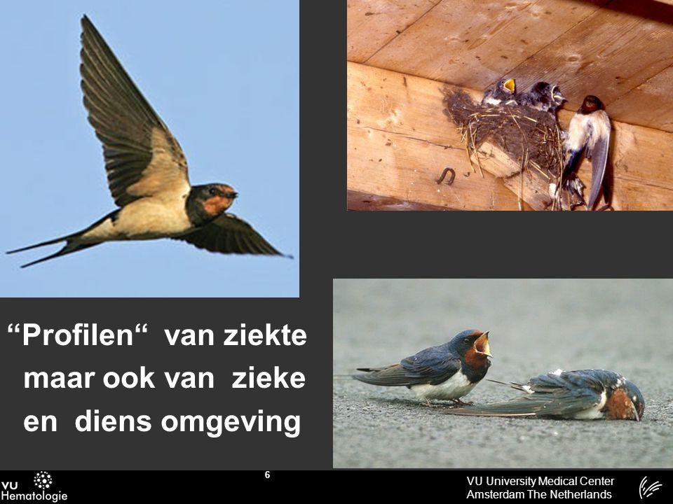 """VU University Medical Center Amsterdam The Netherlands 6 """"Profilen"""" van ziekte maar ook van zieke en diens omgeving"""