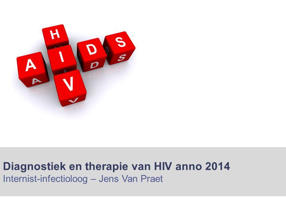 Diagnostiek en therapie van HIV anno 2014 Internist-infectioloog – Jens Van Praet