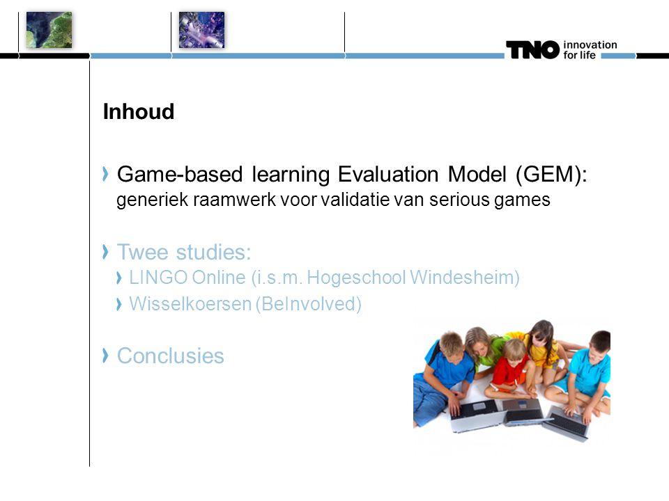 Game-based learning Evaluation Model (GEM) Waarom.