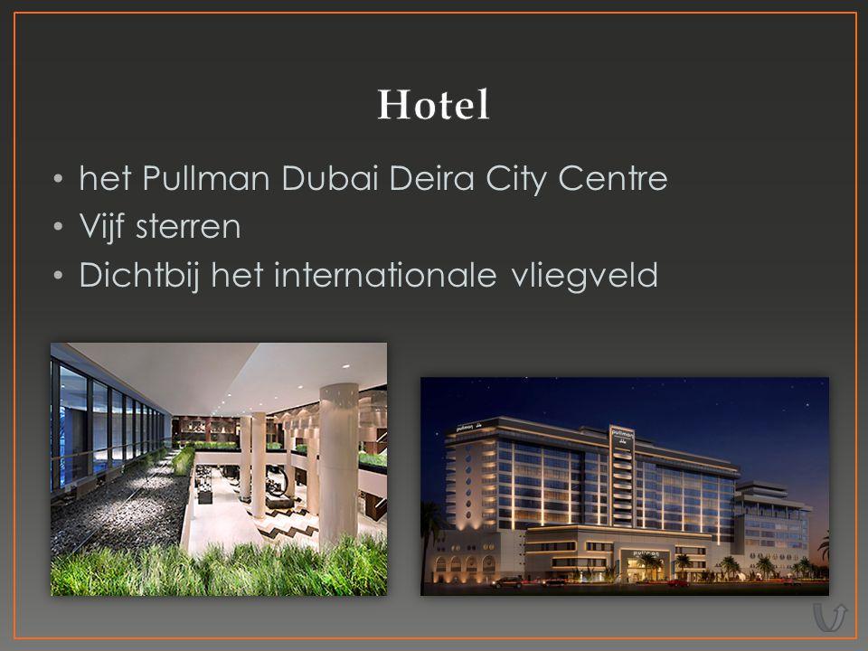 het Pullman Dubai Deira City Centre Vijf sterren Dichtbij het internationale vliegveld