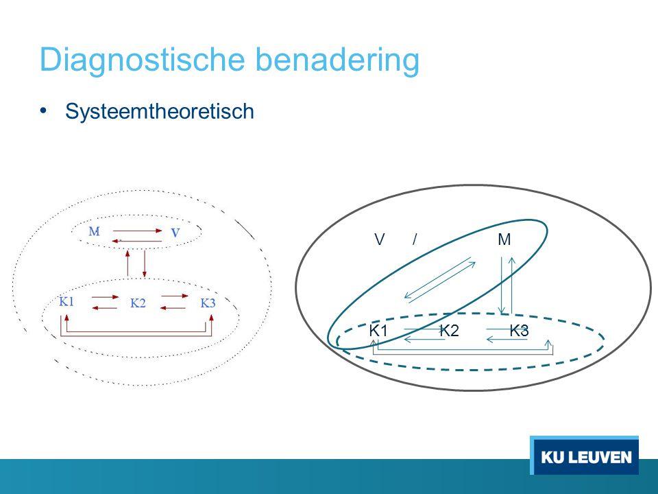 Diagnostische benadering Systeemtheoretisch V /M K1 K2 K3