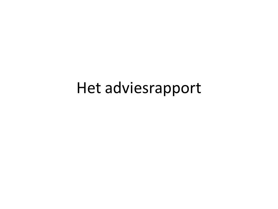 Het adviesrapport
