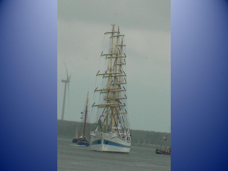 Maar meestal storm en regen ging het richting IJmuiden.