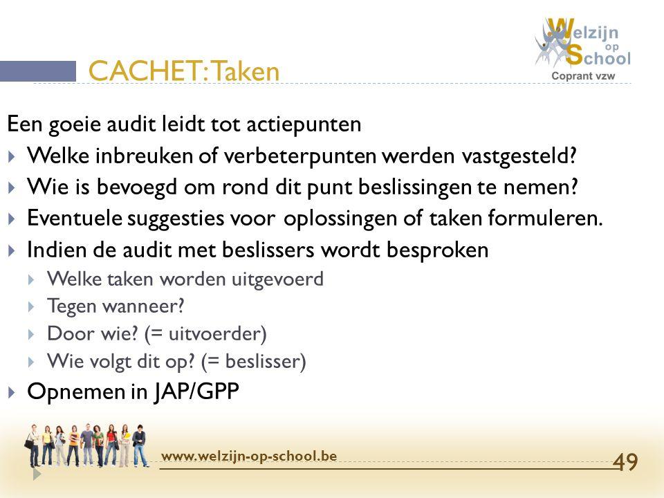 Een goeie audit leidt tot actiepunten  Welke inbreuken of verbeterpunten werden vastgesteld?  Wie is bevoegd om rond dit punt beslissingen te nemen?