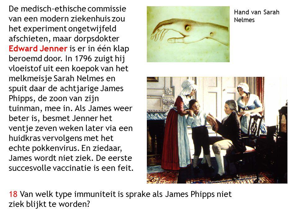 De medisch-ethische commissie van een modern ziekenhuis zou het experiment ongetwijfeld afschieten, maar dorpsdokter Edward Jenner is er in één klap b