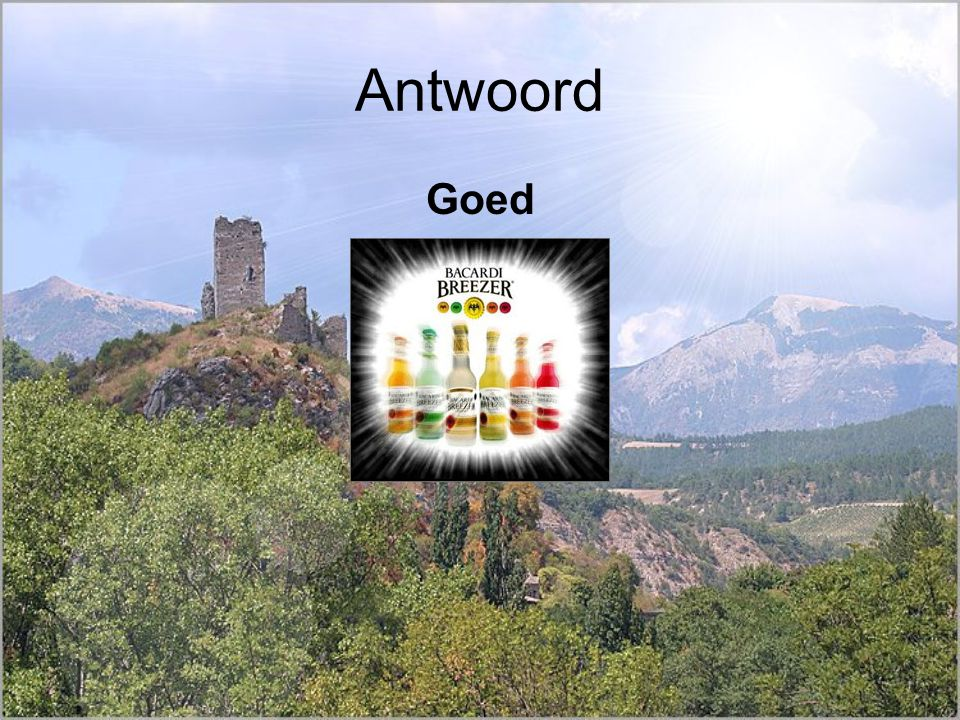 Antwoord Goed