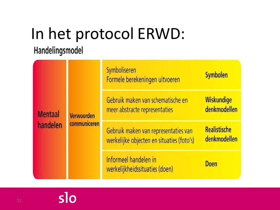 In het protocol ERWD: 12