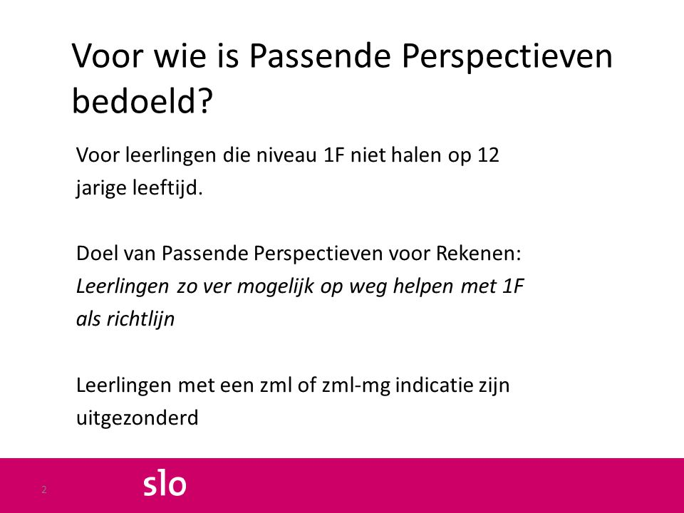 Discussie: is effect van Passende perspectieven meetbaar.