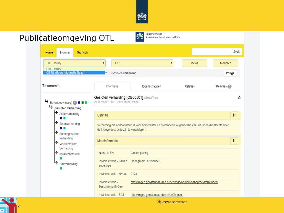 Rijkswaterstaat 9 Publicatieomgeving OTL