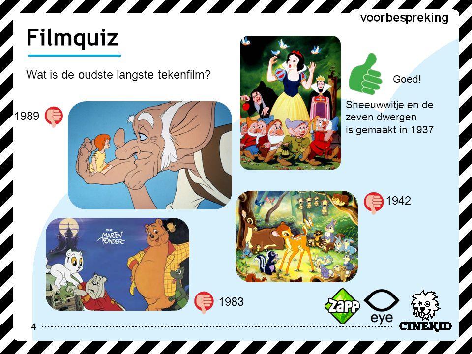 4 Wat is de oudste langste tekenfilm.Filmquiz Goed.