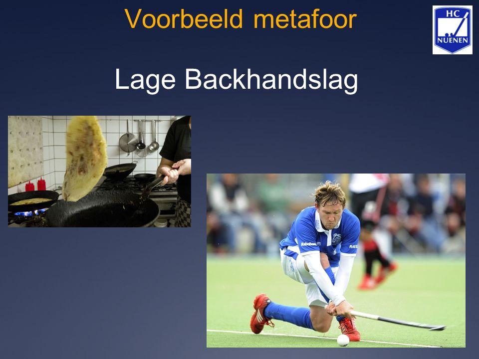 Voorbeeld metafoor Lage Backhandslag