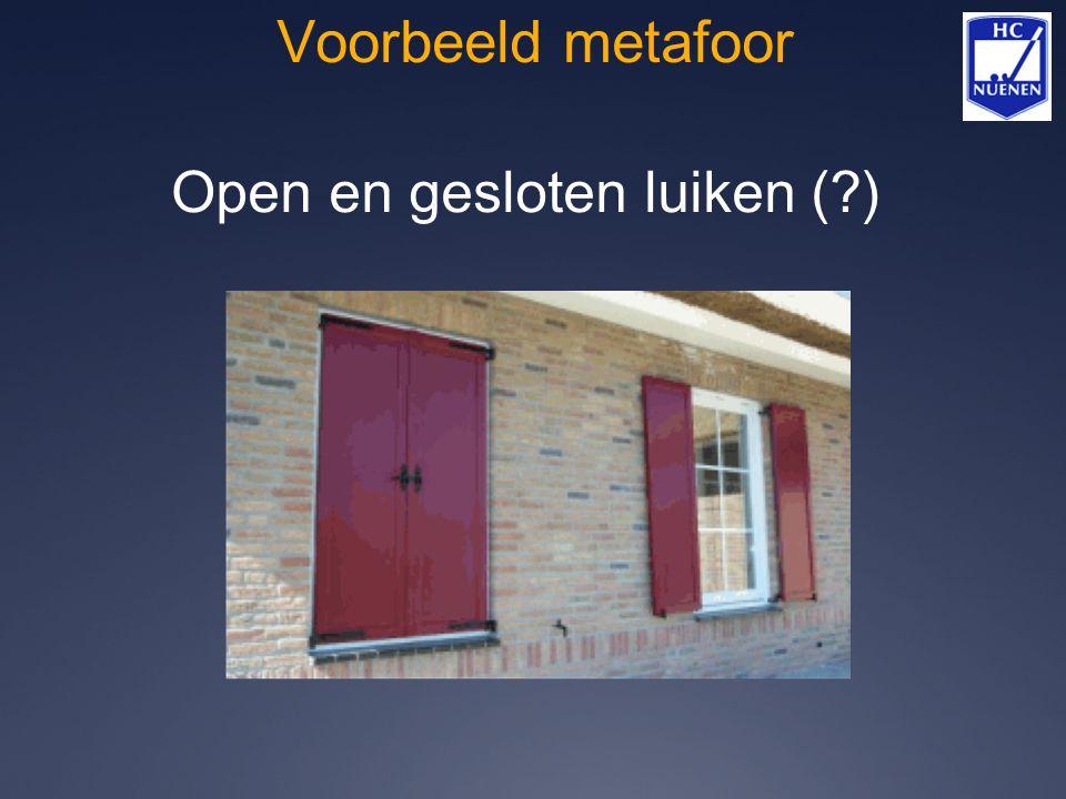 Voorbeeld metafoor Open en gesloten luiken (?)