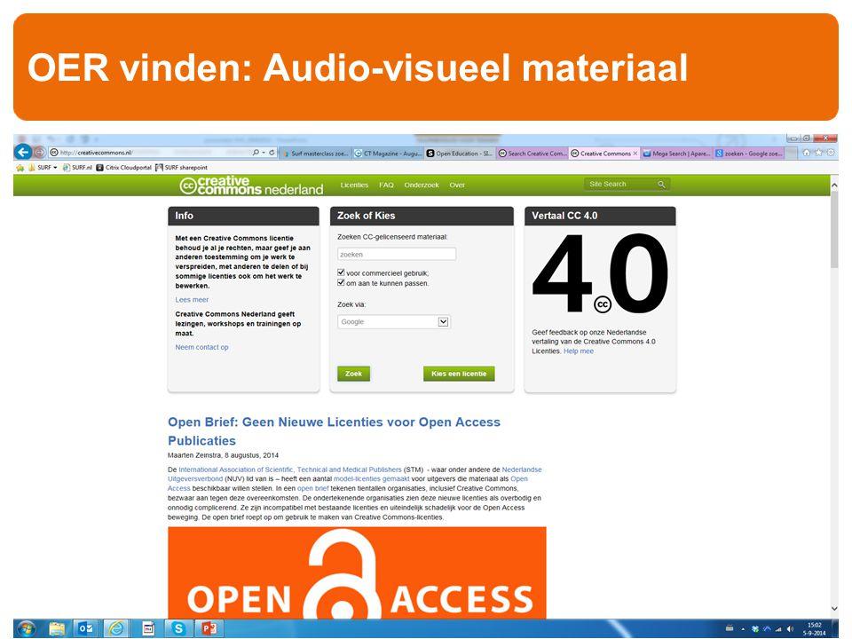 OER vinden: Audio-visueel materiaal