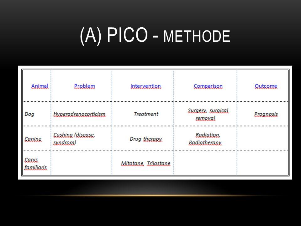 (A) PICO - METHODE