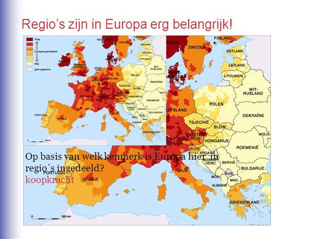 Er bestaan in de EU grote verschillen in welvaart.