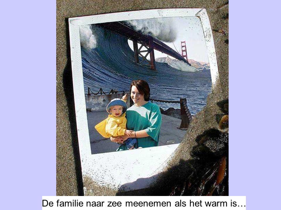 De familie naar zee meenemen als het warm is…