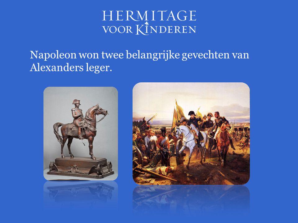 Napoleon won twee belangrijke gevechten van Alexanders leger.