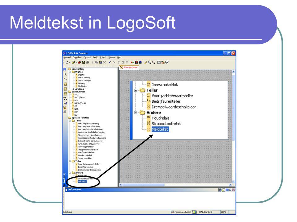 Meldtekst in LogoSoft