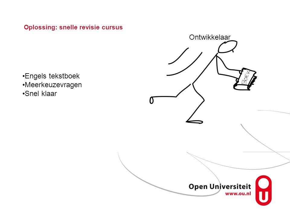 Oplossing: snelle revisie cursus Ontwikkelaar Engels tekstboek Meerkeuzevragen Snel klaar