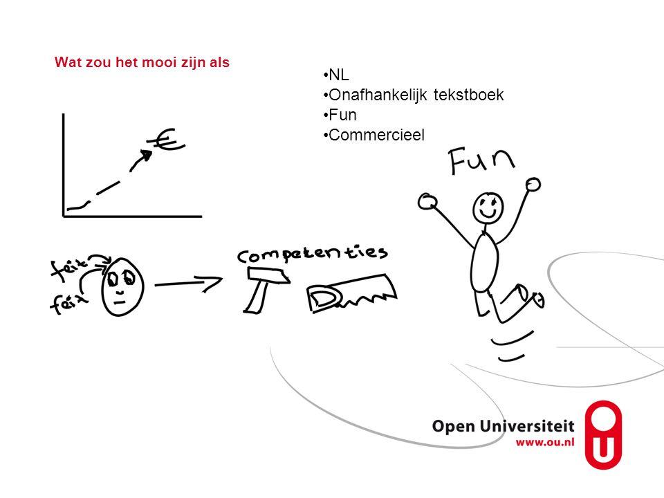 Wat zou het mooi zijn als NL Onafhankelijk tekstboek Fun Commercieel