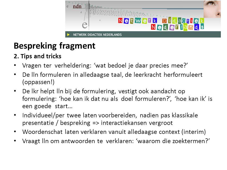 Bespreking fragment 2.