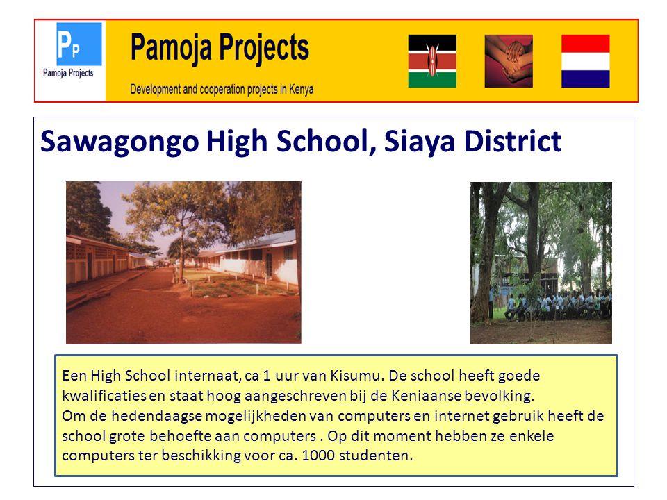 Sawagongo High School, Siaya District Een High School internaat, ca 1 uur van Kisumu.