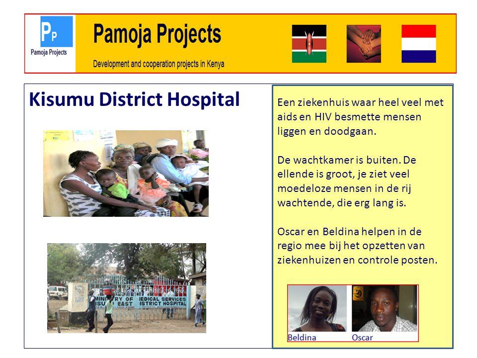 Kisumu District Hospital Een ziekenhuis waar heel veel met aids en HIV besmette mensen liggen en doodgaan.