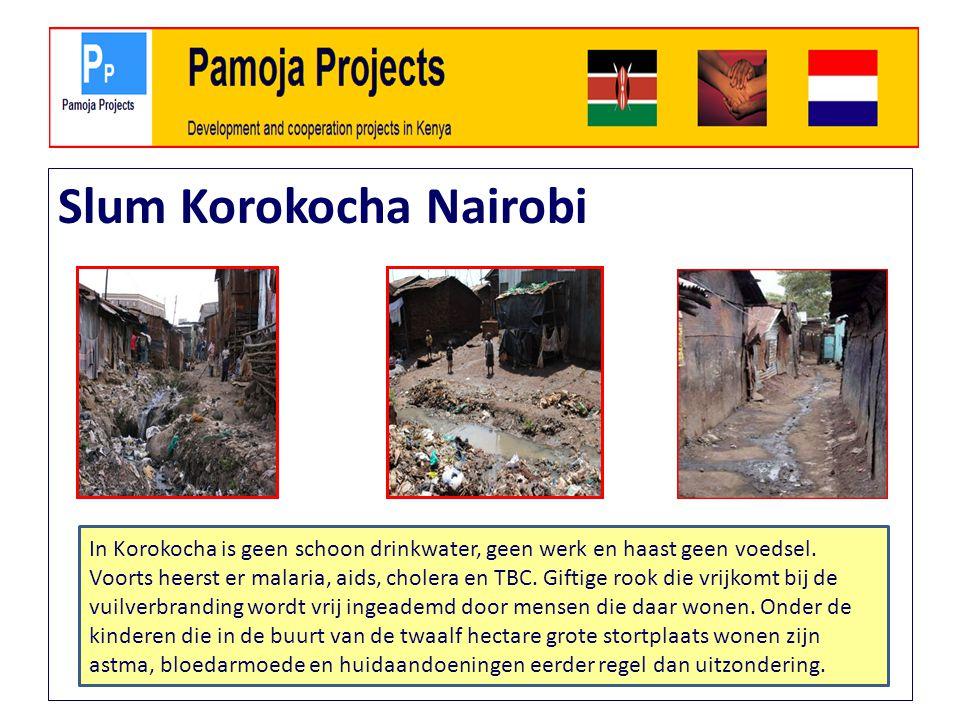 Slum Korokocha Nairobi In Korokocha is geen schoon drinkwater, geen werk en haast geen voedsel.