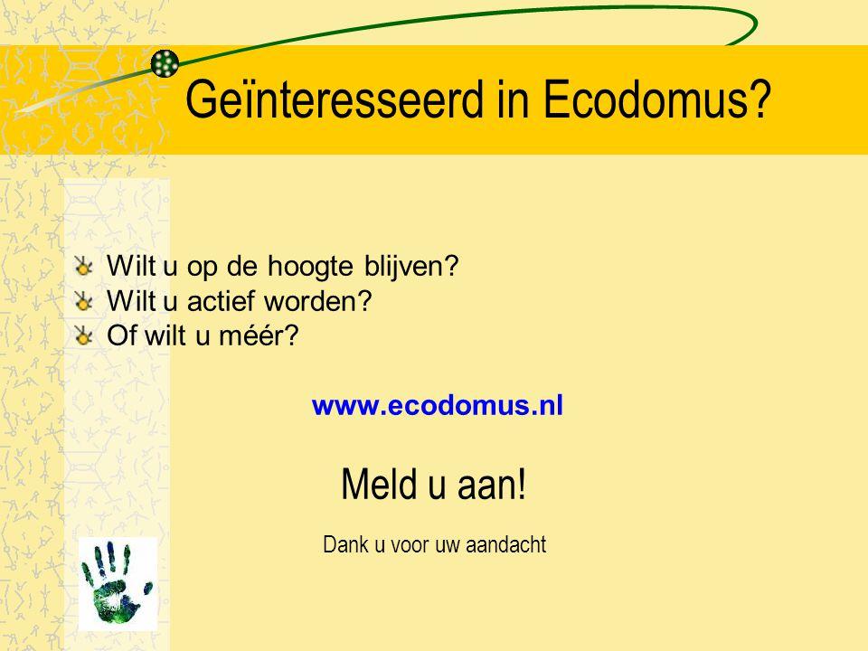 Waarom dan zo weinig eco-bouw? Slechts 10% van de mensen in NL bouwen zelf! Gronduitgifte kavels is monopolie van gemeenten. Projectontwikkelaars geen