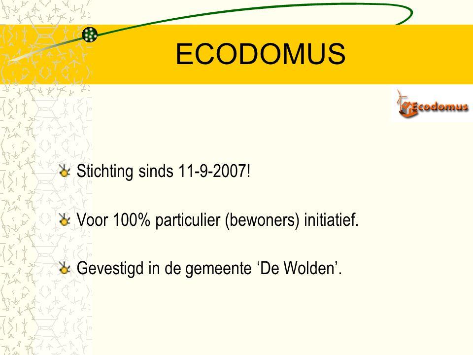 ECO - DOMUS ECO = Evenwicht tussen de mens en zijn natuurlijke omgeving. DOMUS = Latijn voor: huis of woning.