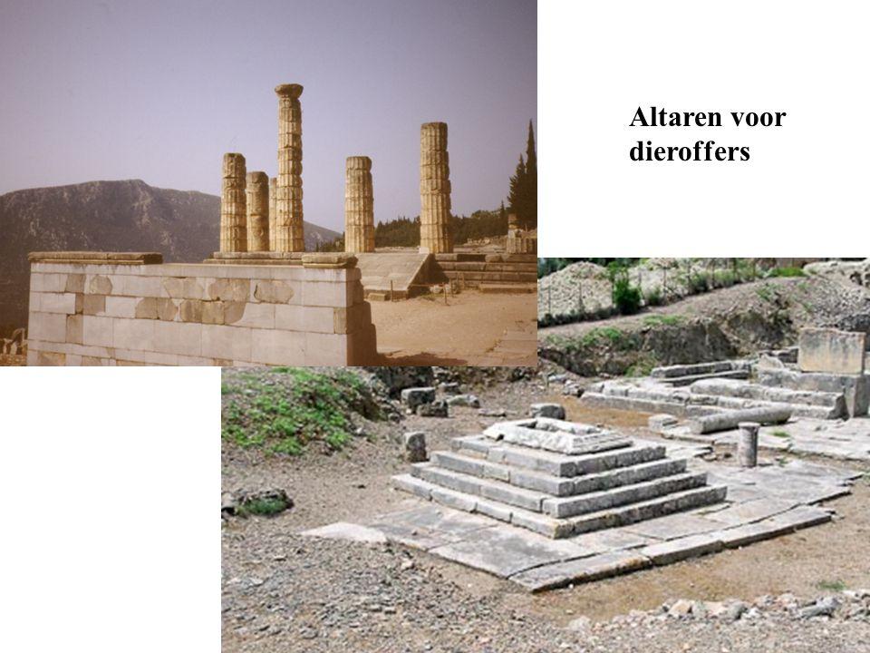 Altaren voor dieroffers