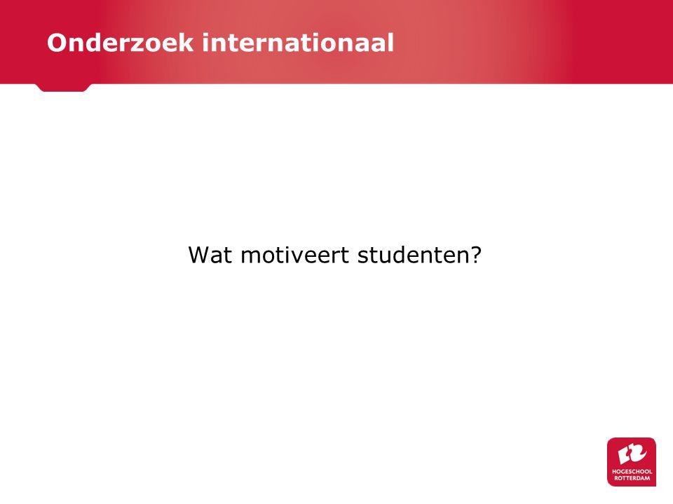 Onderzoek internationaal Wat motiveert studenten?