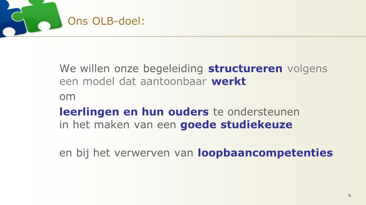 Studiekeuze-modellen Twee wetenschappelijk getoetste modellen in Vlaanderen.