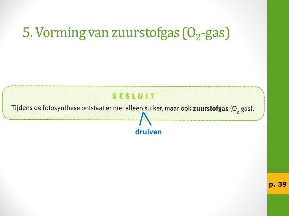 5. Vorming van zuurstofgas (O 2 -gas) druiven p. 39