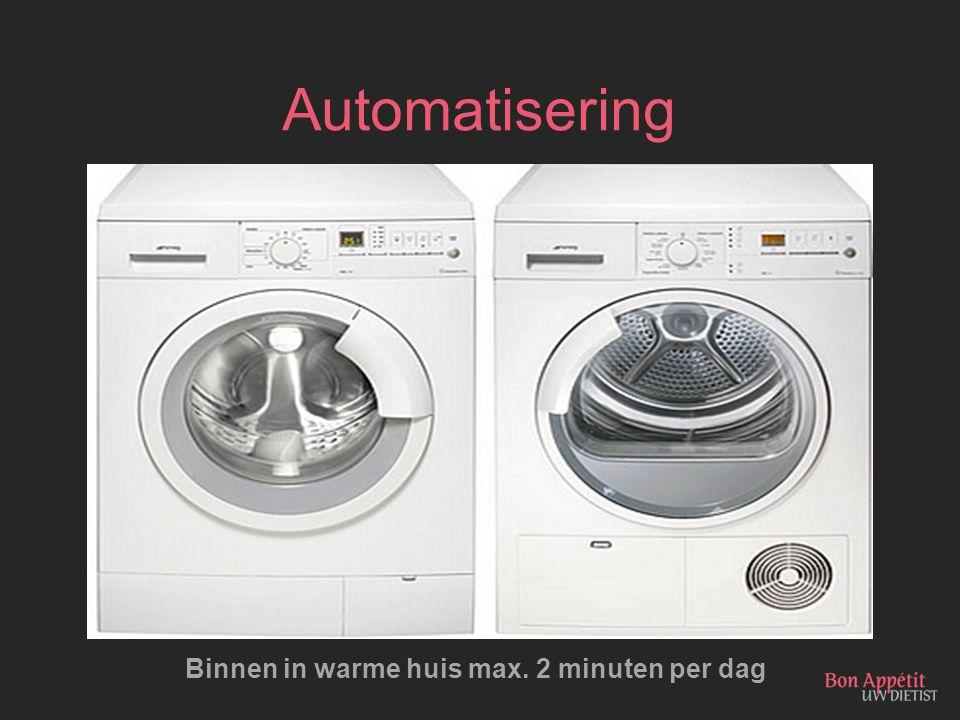 Automatisering Binnen in warme huis max. 2 minuten per dag