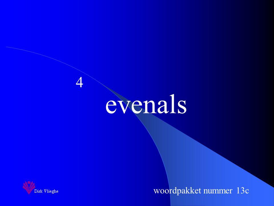 woordpakket nummer 13c serie 14
