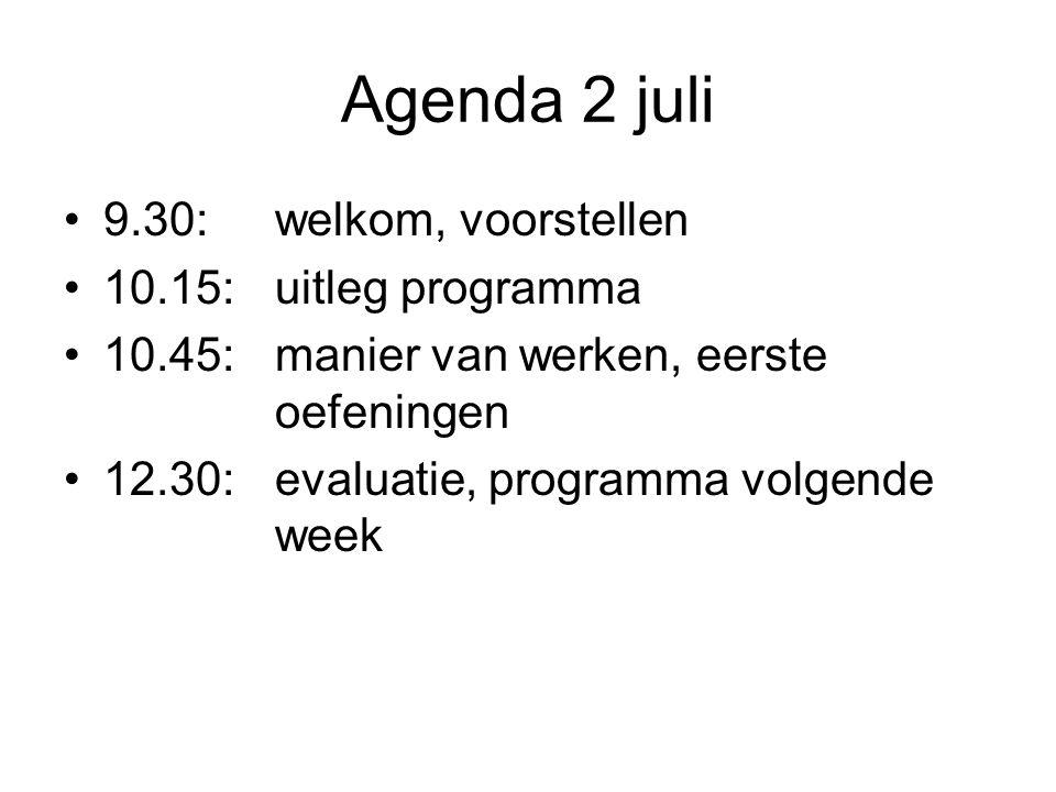 Het programma, 1 periode: tussen nu - eind 2014 we zien elkaar wekelijks ruimte: Westersingel 109.