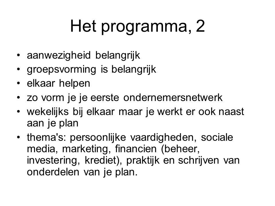 www.ondernemenincool.nl - programma: wat staat op het programma.