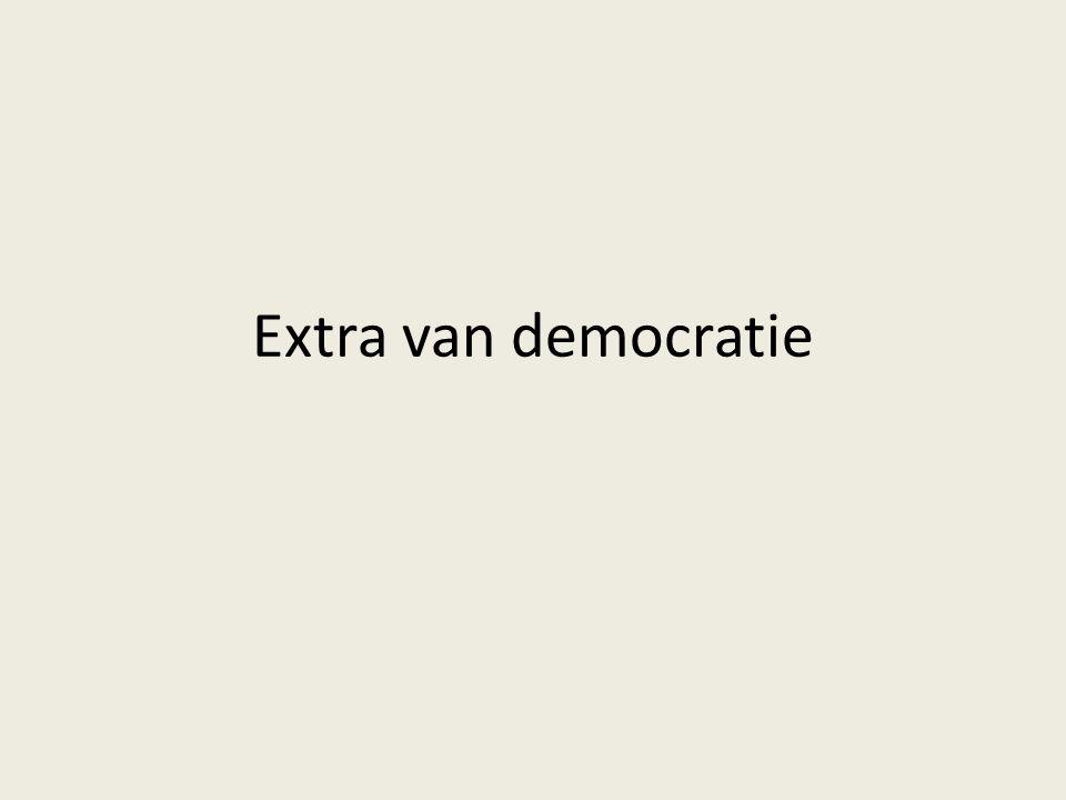Extra van democratie