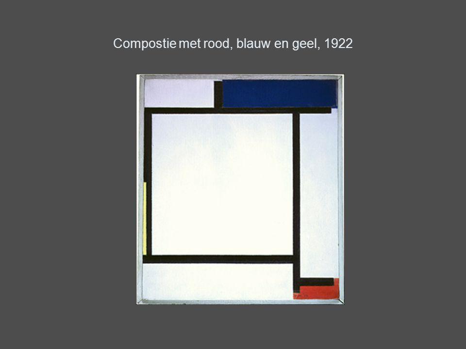Compostie met rood, blauw en geel, 1922